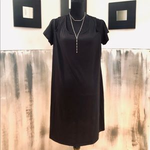 Black Cold Shoulder A Line Dress Sz XL